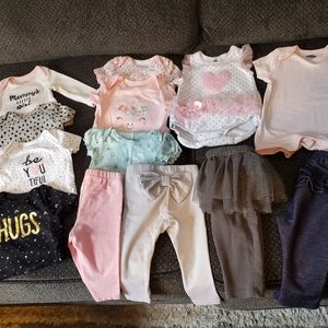 Lot of 13 baby girl clothes